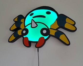 Spinarak Pokemon light / shade ( Made to order, I don't have stock )