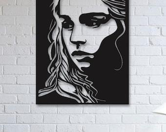 Game of Thrones Khaleesi Metal Wall Art, Wall Decor, Metallic Paint, Living Room Wall Decor, Bedroom Wall Decor, Metal Wall Hanging