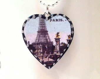 Our Precious Petite Paris heart Pendant is lovingly handmade in Brooklyn by Wishing Well Studio.