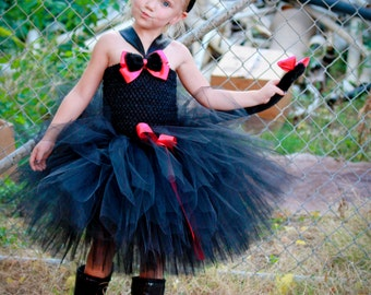 Black Cat Tutu Dress, Black Cat Costume, Girls Halloween Costume