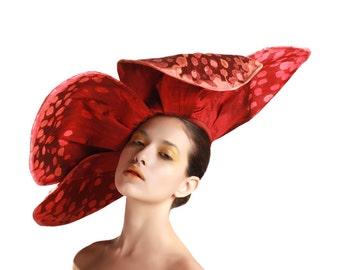 Giant Red Flower Headpiece, Rafflesia Fascinator