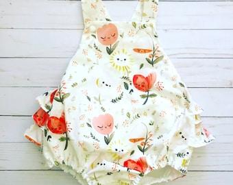 Baby Girl Ruffled Romper // Dreamy Spring