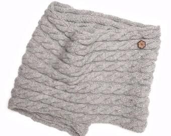 Snood, twisted mesh 100% alpaca scarf, handmade