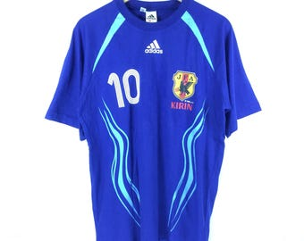 Adidas !! Vintage Adidas Kirin JFA Tshirt Adidas Number Ten JFA Tshirt Japan Team Football