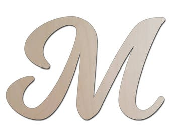 Custom Laser Cut Wooden Letter - Unfinished Wood Letters, DIY Craft Supply, Many Size Options - Wall Art, Scrapbooking - Nursery Decor