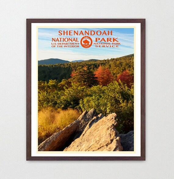 Shenandoah National Park - Shenandoah National Park Poster - National Park Art - WPA  WPA Poster  WPA Art - Appalachian Trail - Virginia Art