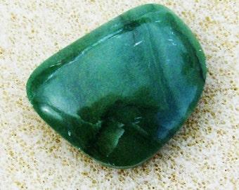 Fancy Green Jasper Cabochon - Handmade Free Form, Grass Green Handcrafted by JewelryArtistry - GC524