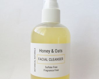 Honey & Oats Face Wash, Sulfate Free, Facial Cleanser, Sensitive Skin