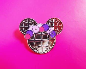 Flower and Garden festival Spaceship Earth pin Epcot Walt Disney World Mickey Head hard enamel flower crown