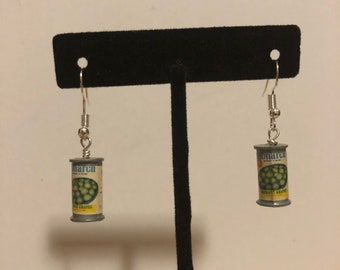 Peas can earrings