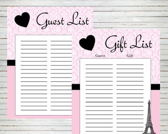 guest book sign in sheet