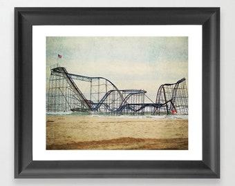 Jet Star Coaster, Ocean Coaster, Roller Coaster in Ocean, Jersey Shore Coaster, Hurricane Sandy, Jet Coaster