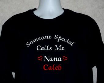 Nana Sweatshirt, Custom Personalize Grandparent Gift, With Three Grandkids Names, Nonna, Busia, Memere, Anma, Mom, No Shipping Fee, AGFT 775