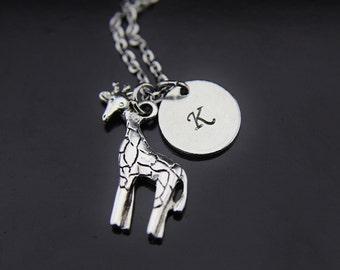 Giraffe Necklace, Silver Giraffe Charm, Animal Charm, Miniatures Giraffe Charm, Wildlife Charm, Personalized Gift, Wildlife Jewelry
