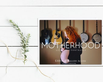 Motherhood Session Template, Maternity Template, Lifestyle Portrait, Photoshop Template, Facebook Advertising, Branding, Photography,