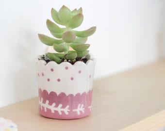 Pot en céramique *rose*