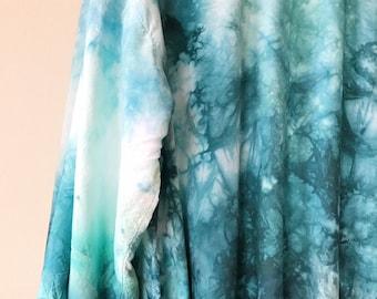 Hand Dyed Kimono Robe in Waikiki,  aqua blue, Anna Joyce, Portland, OR.
