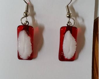 Fused glass red