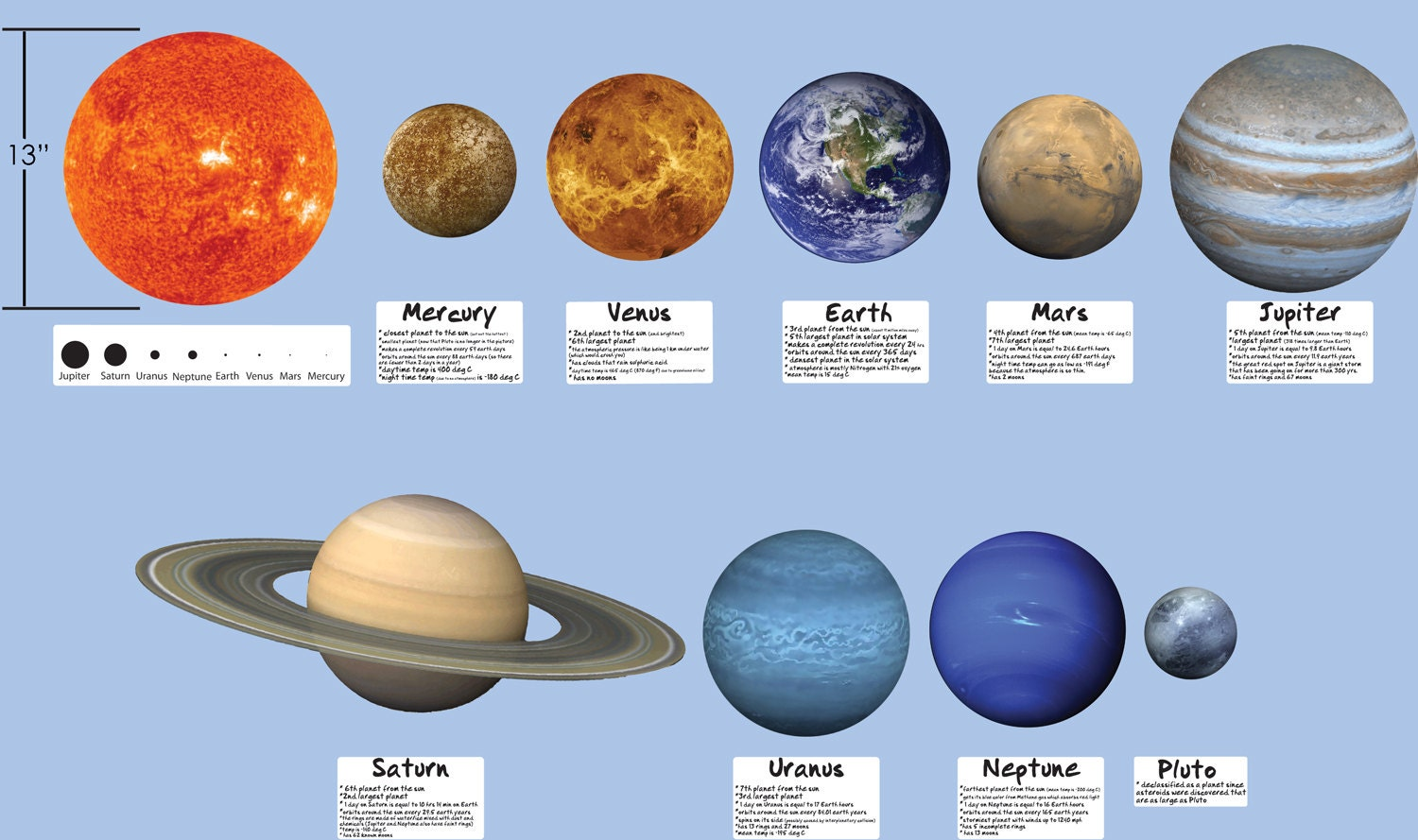 what are the colors of the planets in the telling order colors - photo #19