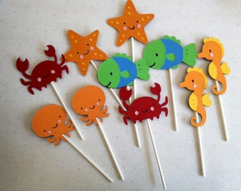 12 Under the Sea Cupcake Toppers