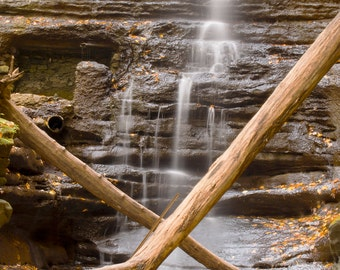 Waterfall at Mattheissen State Park Fine Art Photography Wall Print or Photo Canvas