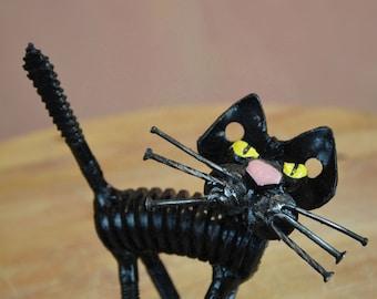 "Sculpture named ""Upset cat"""