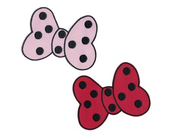 Minnie Bow Iron On Applique Iron on Patch Custom Patch