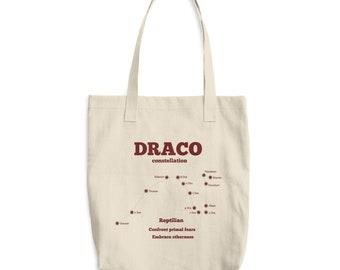 Draco Constellation Cotton Tote Bag