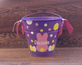Personalized Easter Pail, Personalized Easter Bucket, Monogrammed Easter Pail, Personalized Easter Bucket