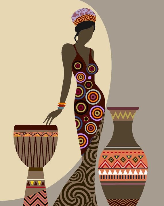 Incroyable African Woman Art, Afrocentric Art, African Wall Art, Afrocentric Art,  Afrocentric Decor, African American Art