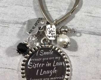 Keychain for Sister in Law. Gift for Brothers Wife. Humorous Gift.