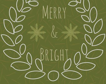 Merry and Bright Graphic.
