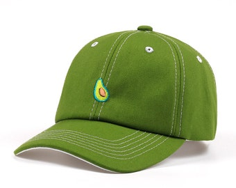 Dad Hat - Avocado Hat Embroider - Dad Hat - Summer dad hat - Fruit Style Summer Dad Hat/Cap Summer Baseball Cap And Hat