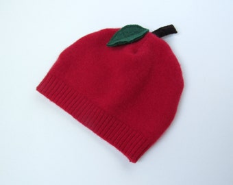 3-6 Month Cashmere Apple Baby Hat Red Apple Beanie Baby Hat