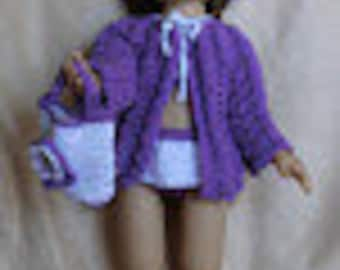 Designer Original  Beach Outfit WW17 for Wellie Wisher Dolls