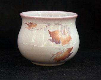Denby Stoneware Sugar Bowl in the Twilight Pattern Excellent