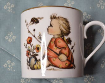 Vintage Child's Cup with Painting by Sr. Berta Hummel by Schmid from 1974