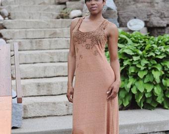 SALE   l, xl - womens fashion. ladies clothes. summer clothing. trending. cotton blend fabric. racerback dress. sleeveless maxi dress