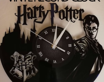 HARRY POTTER 12 inch / 30 cm ViNYL WAll ClOCK MOVIE wall clock gifts for men Hogwarts gift for kids