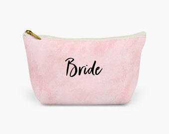 Bride Makeup Bag | Bride Cosmetic Bag | Large Toiletry Bag | Wash Bag
