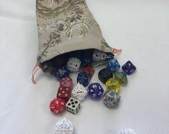 Floral Dice Bag *MISPRINT*