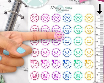Clear Smiley Stickers Emoticon Stickers Emoji Stickers Planner Stickers Erin Condren Functional Stickers Decorative Stickers NR655