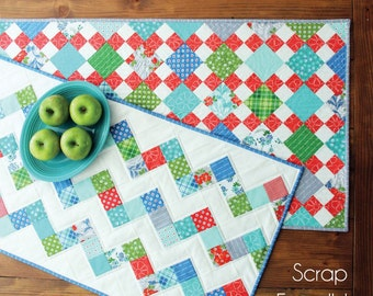 Summer Runners - Two Scrap Friendly Quilted Table Runner Patterns by Little Cluck Cluck Sew #159