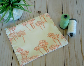Palm Springs Palm Trees Small Cosmetic Bag/ Small Zip Pouch