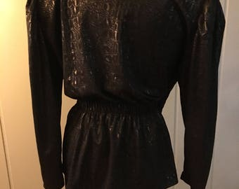 Jacket(suit) in shiny black