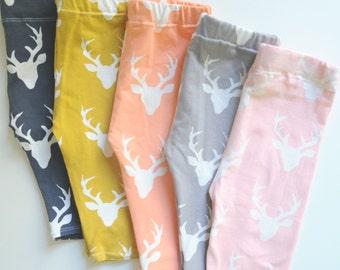 Baby Leggings, Deer Leggings, Baby Gift, Antlers Outfit, Newborn Leggings, Baby Outfit, Baby Shower Gift, Woodland Outfit, Thanksgiving