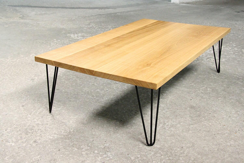 table basse design bois et metal sur mesure. Black Bedroom Furniture Sets. Home Design Ideas