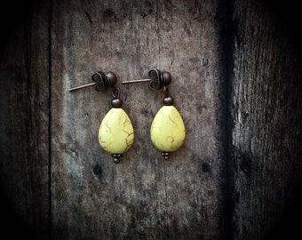 Buttercream Yellow Teardrop Earrings
