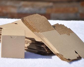 25 Craft Favor Boxes~Rustic~Natural