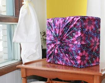 Purple furoshiki with mandala pattern